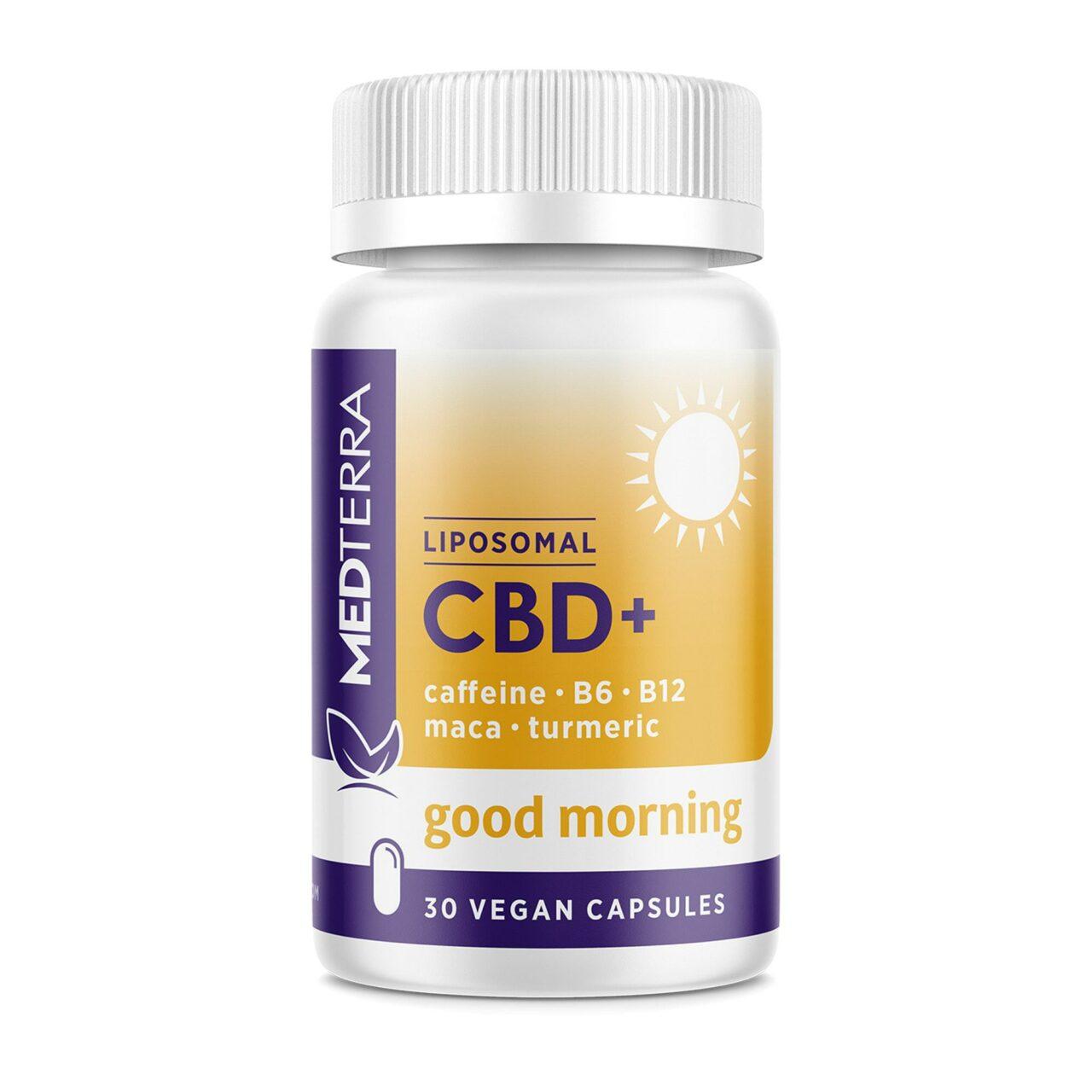 Medterra, Liposomal CBD+ Capsules, Good Morning, Isolate THC-Free, 30ct, 750mg CBD 1