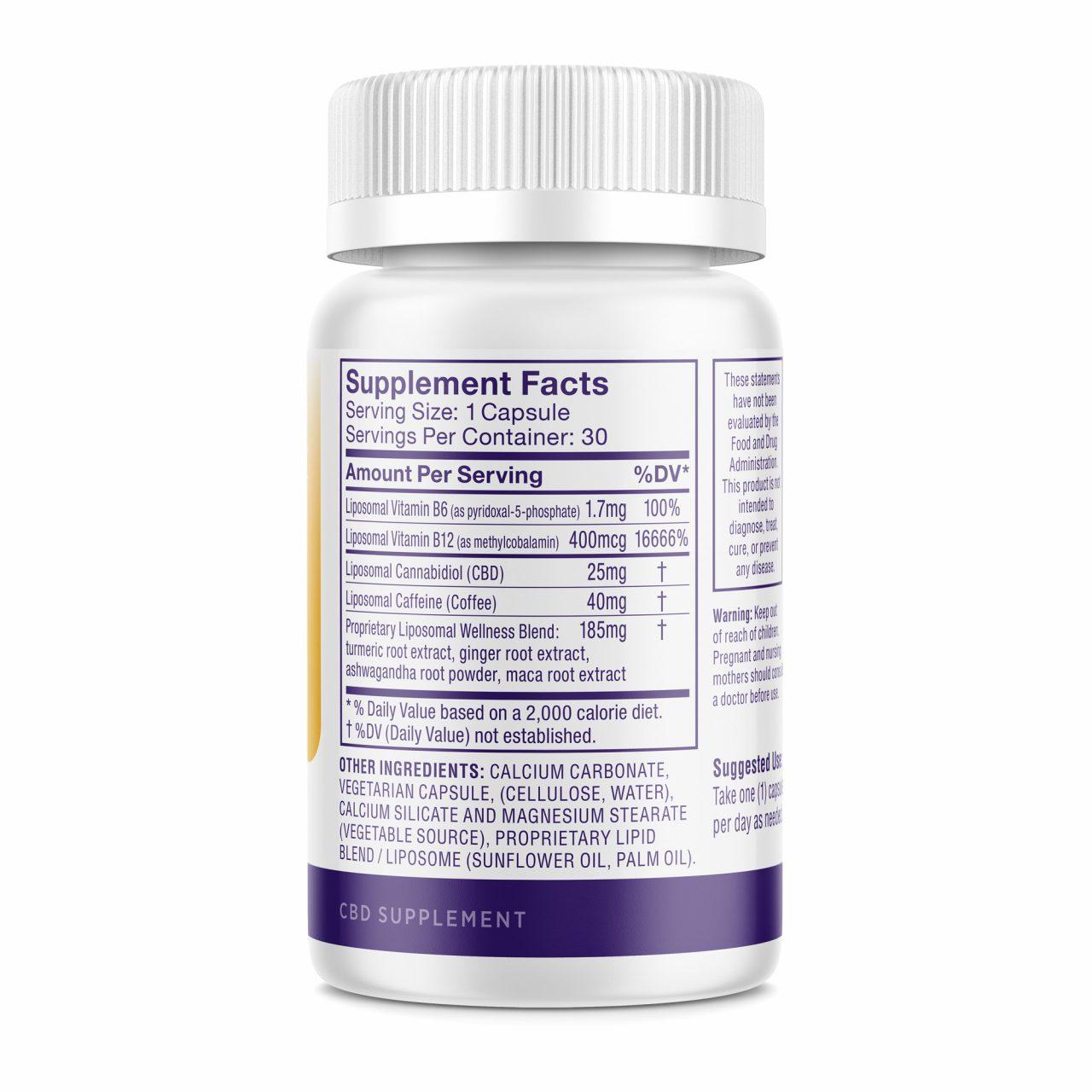 Medterra, Liposomal CBD+ Capsules, Good Morning, Isolate THC-Free, 30ct, 750mg CBD 2