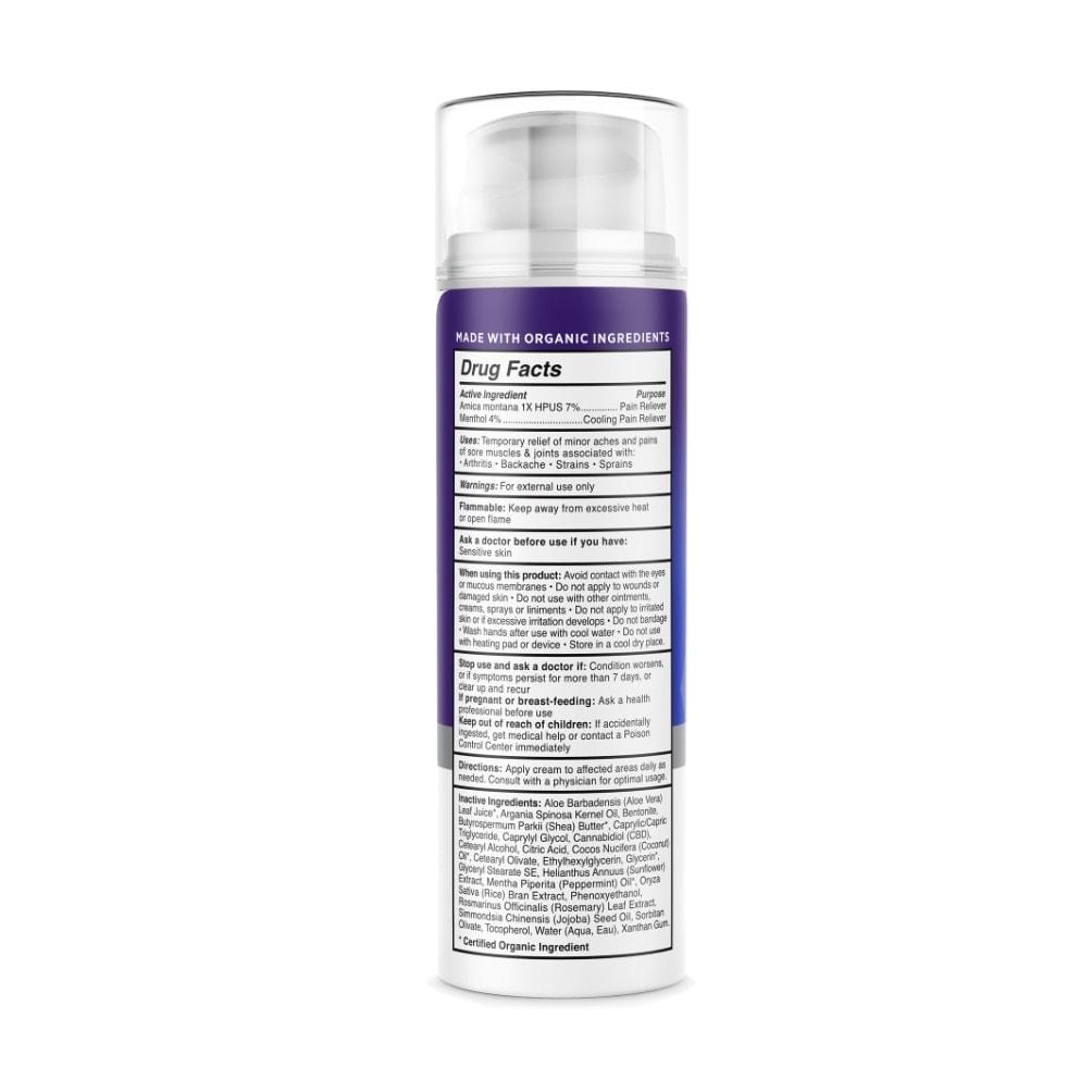Medterra, Pain Relief CBD Cream, Isolate THC-Free, 1.7oz, 1000mg CBD2