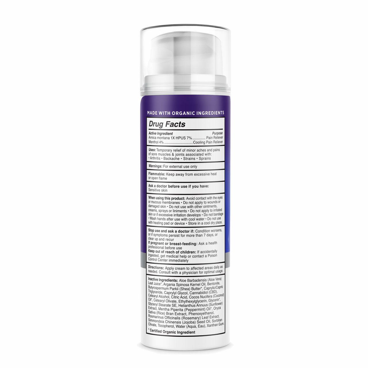 Medterra, Pain Relief CBD Cream, Isolate THC-Free, 1.7oz, 500mg CBD 2