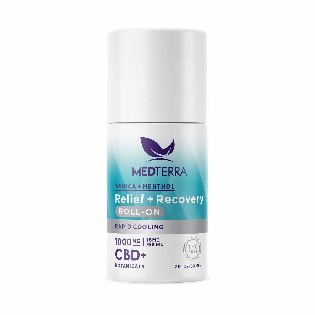 Medterra, Relief + Recovery CBD Roll On, Isolate THC-Free, 2oz, 1000mg CBD