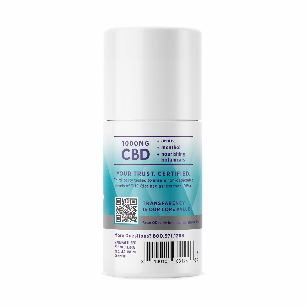 Medterra, Relief + Recovery CBD Roll On, Isolate THC-Free, 2oz, 1000mg CBD 3
