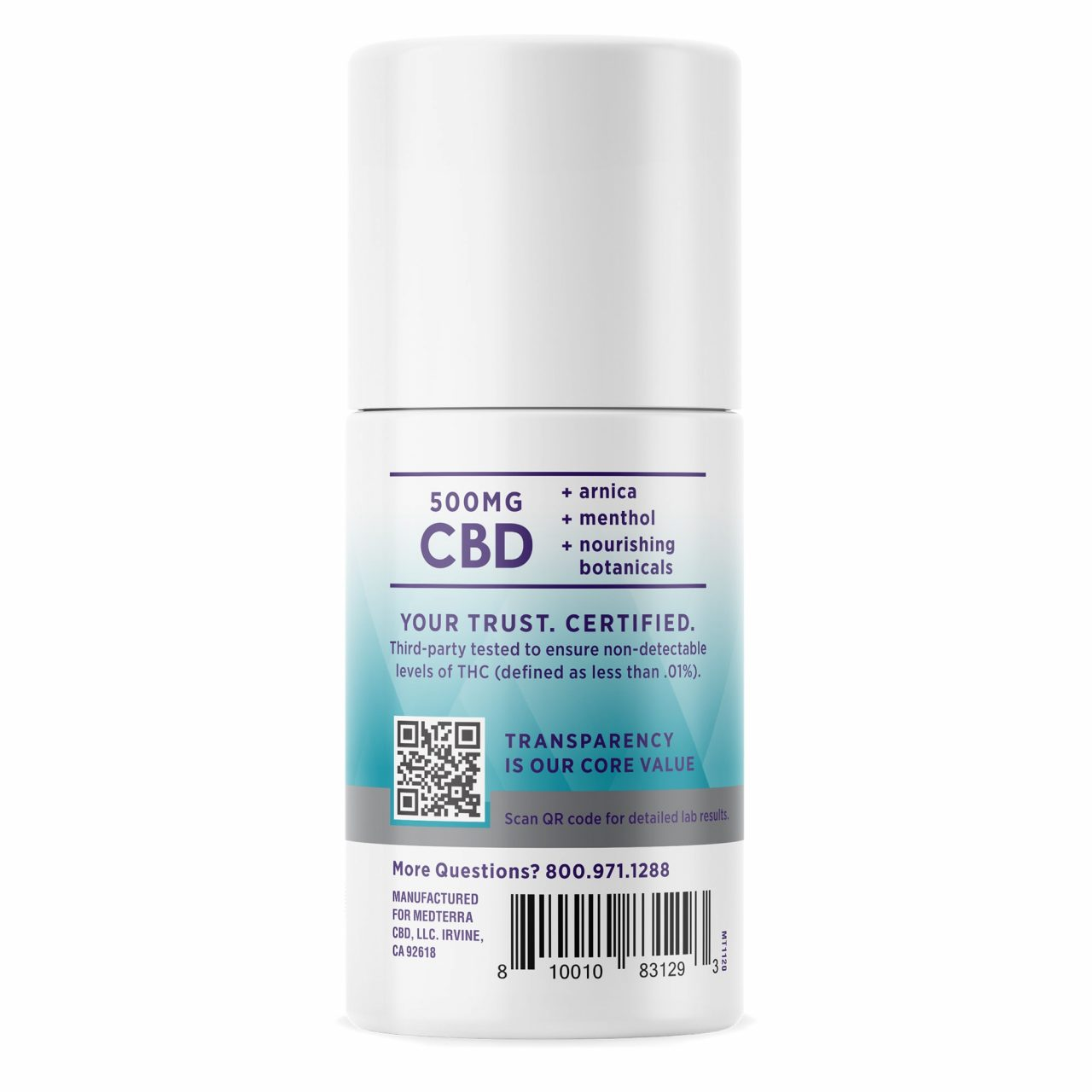 Medterra, Relief + Recovery CBD Roll On, Isolate THC-Free, 2oz, 500mg CBD 2