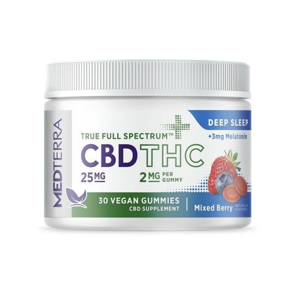 Medterra, True Full Spectrum CBD Gummies, Deep Sleep, Mixed Berry, 30ct, 750mg CBD