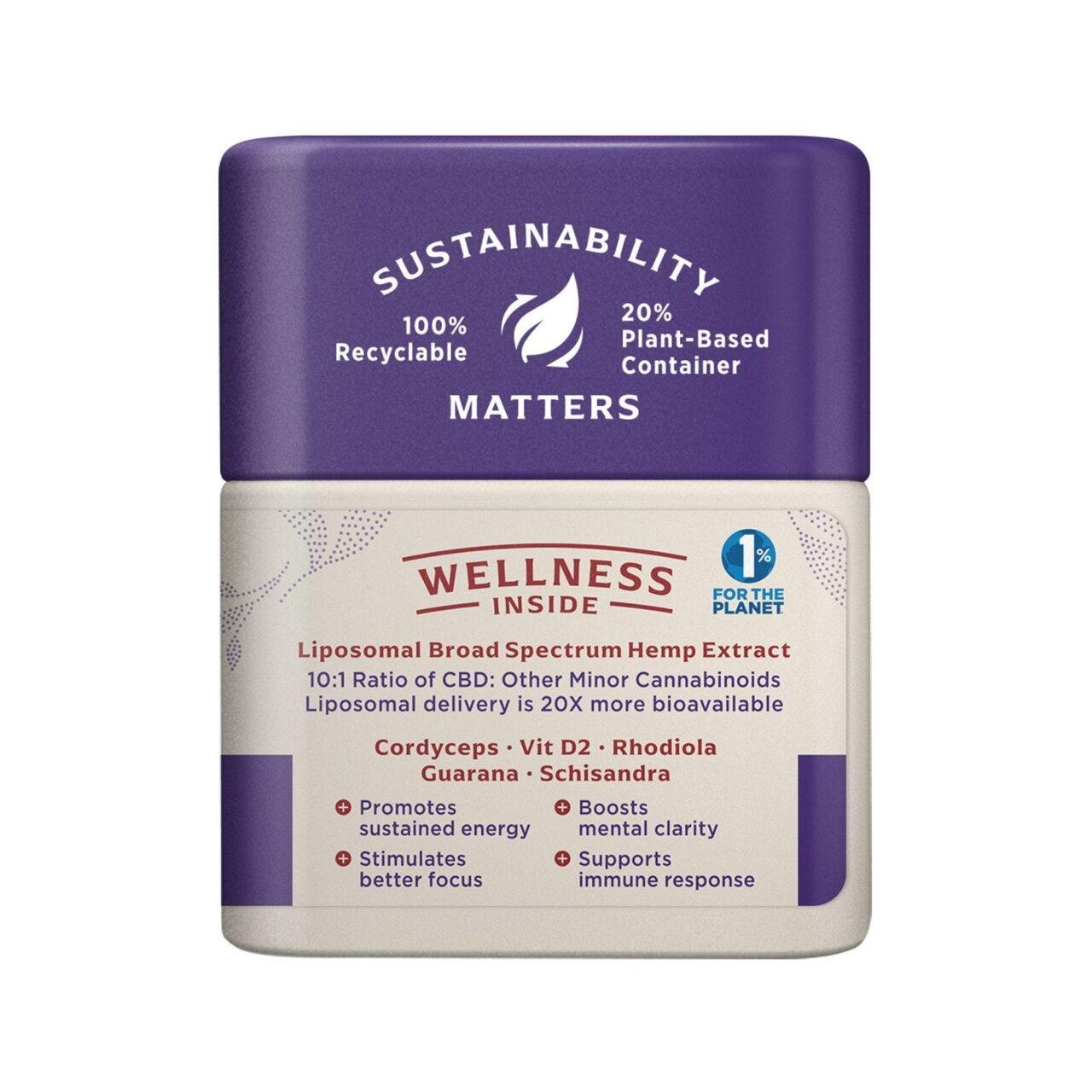 Medterra, Wellness CBD Capsules, Energy, Broad Spectrum THC-Free, 30ct, 750mg CBD 2