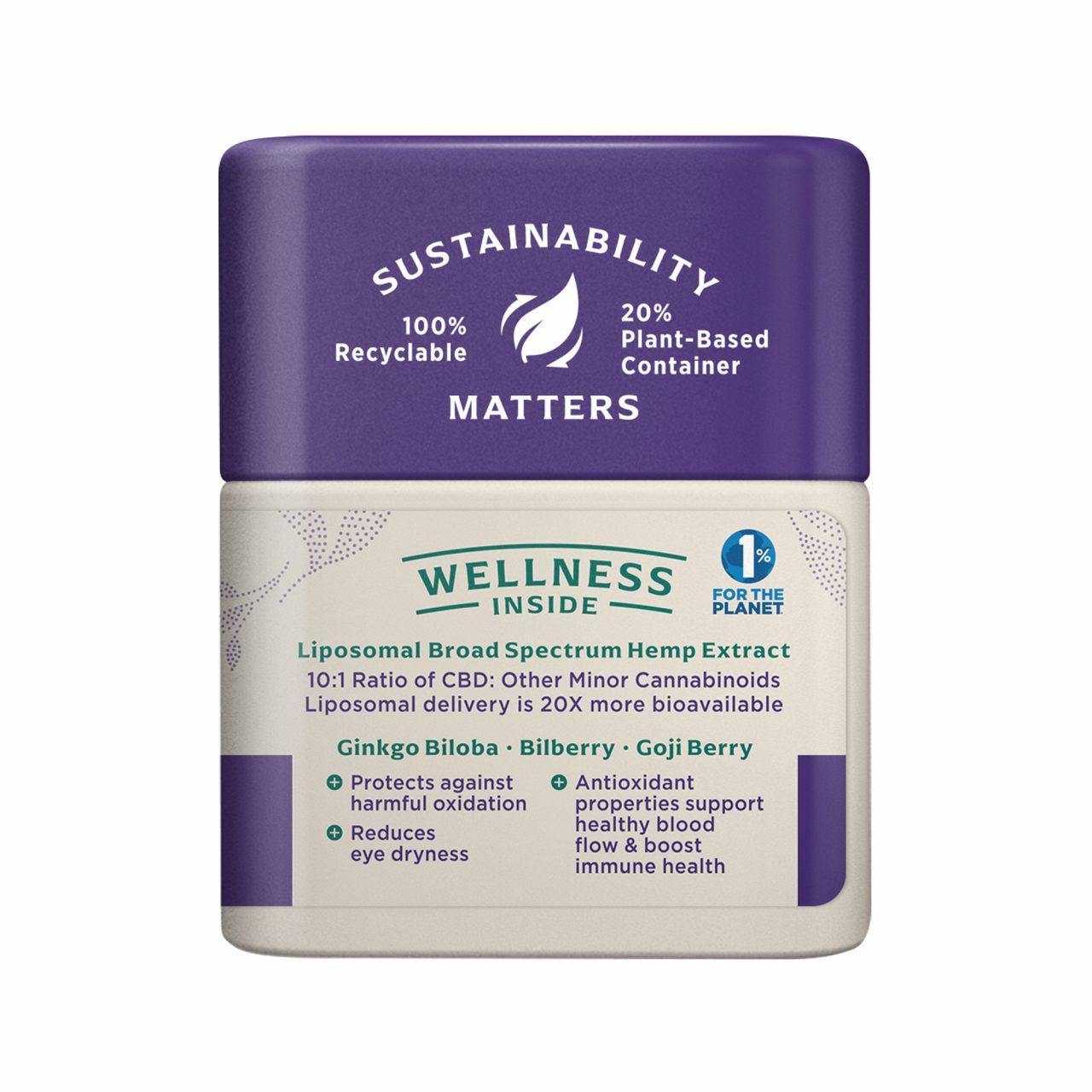 Medterra, Wellness CBD Capsules, Eye Health, Broad Spectrum THC-Free, 30ct, 750mg CBD 2