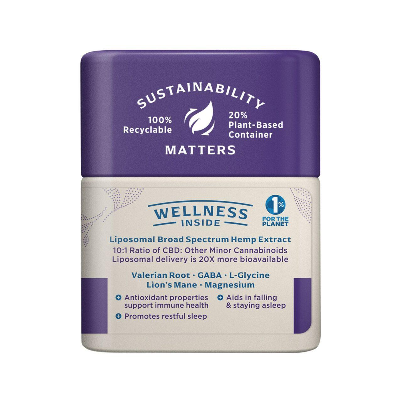 Medterra, Wellness CBD Capsules, Sleep Well, Broad Spectrum THC-Free, 30ct, 750mg CBD 2