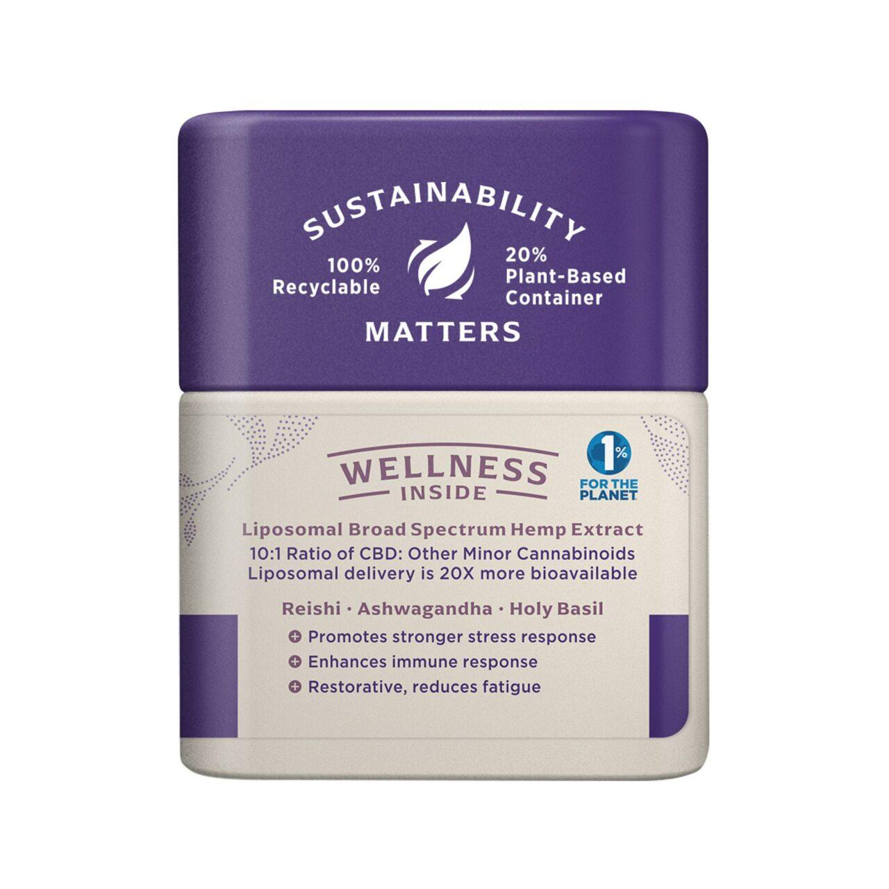 Medterra, Wellness CBD Capsules, Stress Support, Broad Spectrum THC-Free, 30ct, 750mg CBD 2