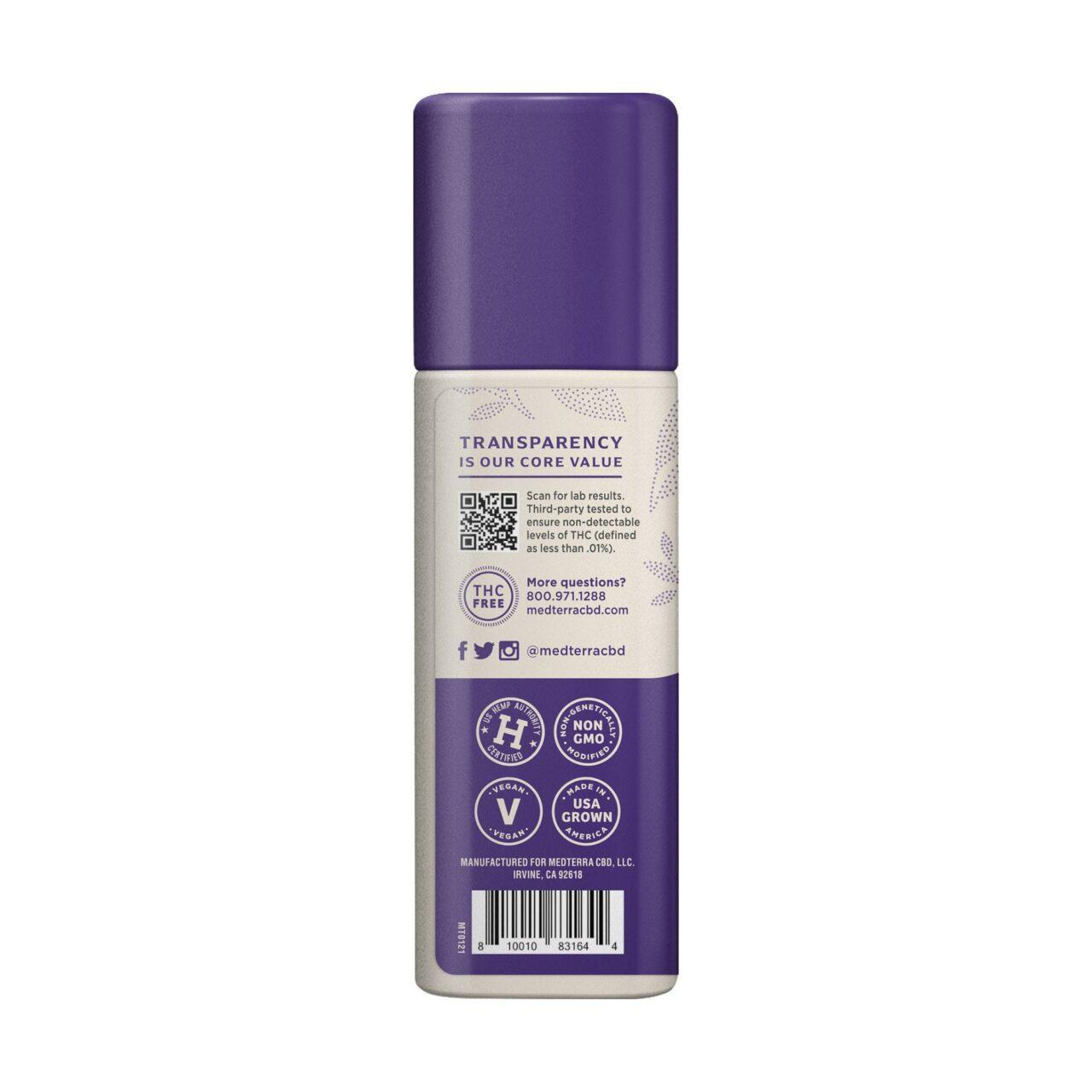 Medterra, Wellness Nature's Relief Daily CBD Cream, Broad Spectrum THC-Free, 1.7oz, 1000mg CBD 3
