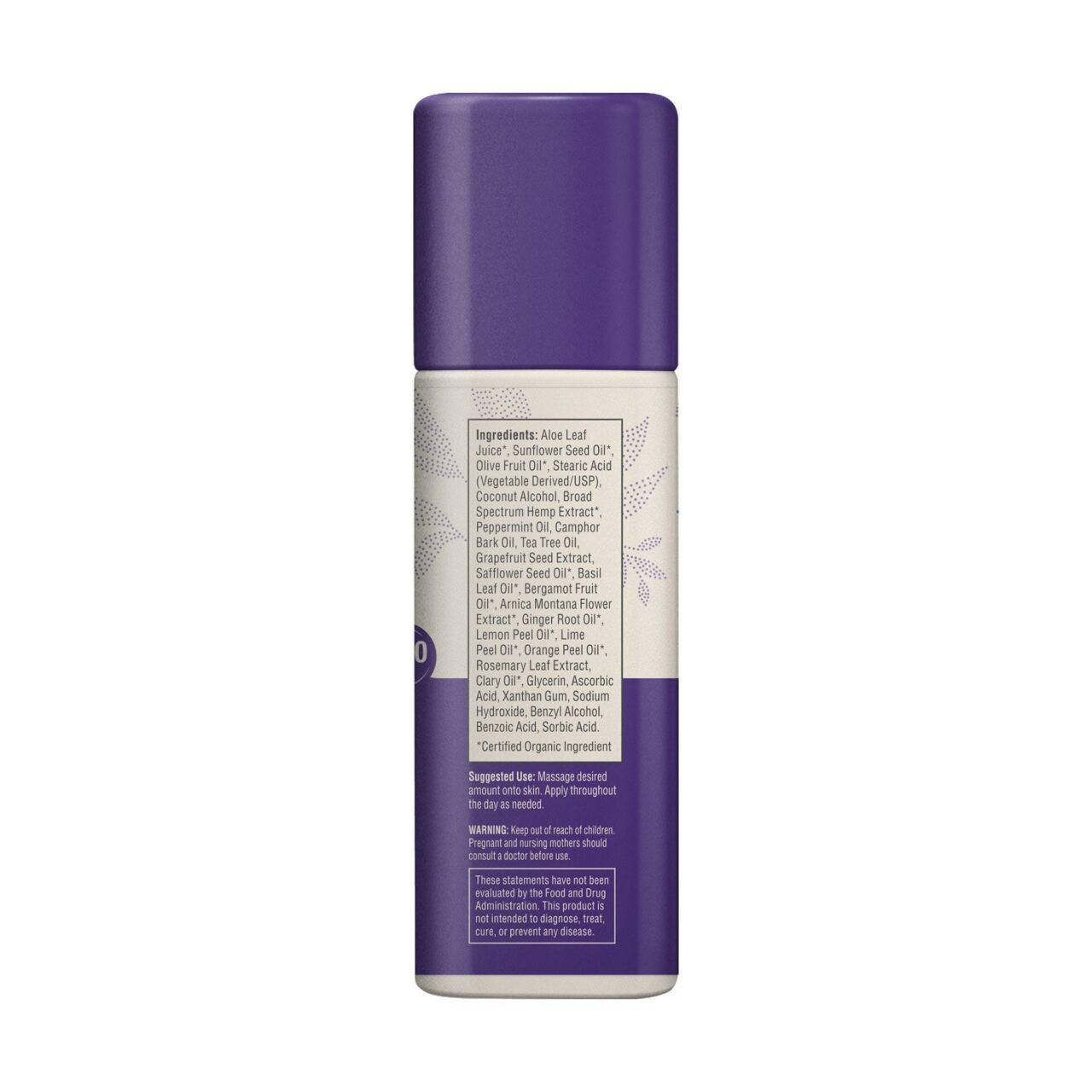 Medterra, Wellness Nature's Relief Daily CBD Cream, Broad Spectrum THC-Free, 1.7oz, 1000mg CBD 4