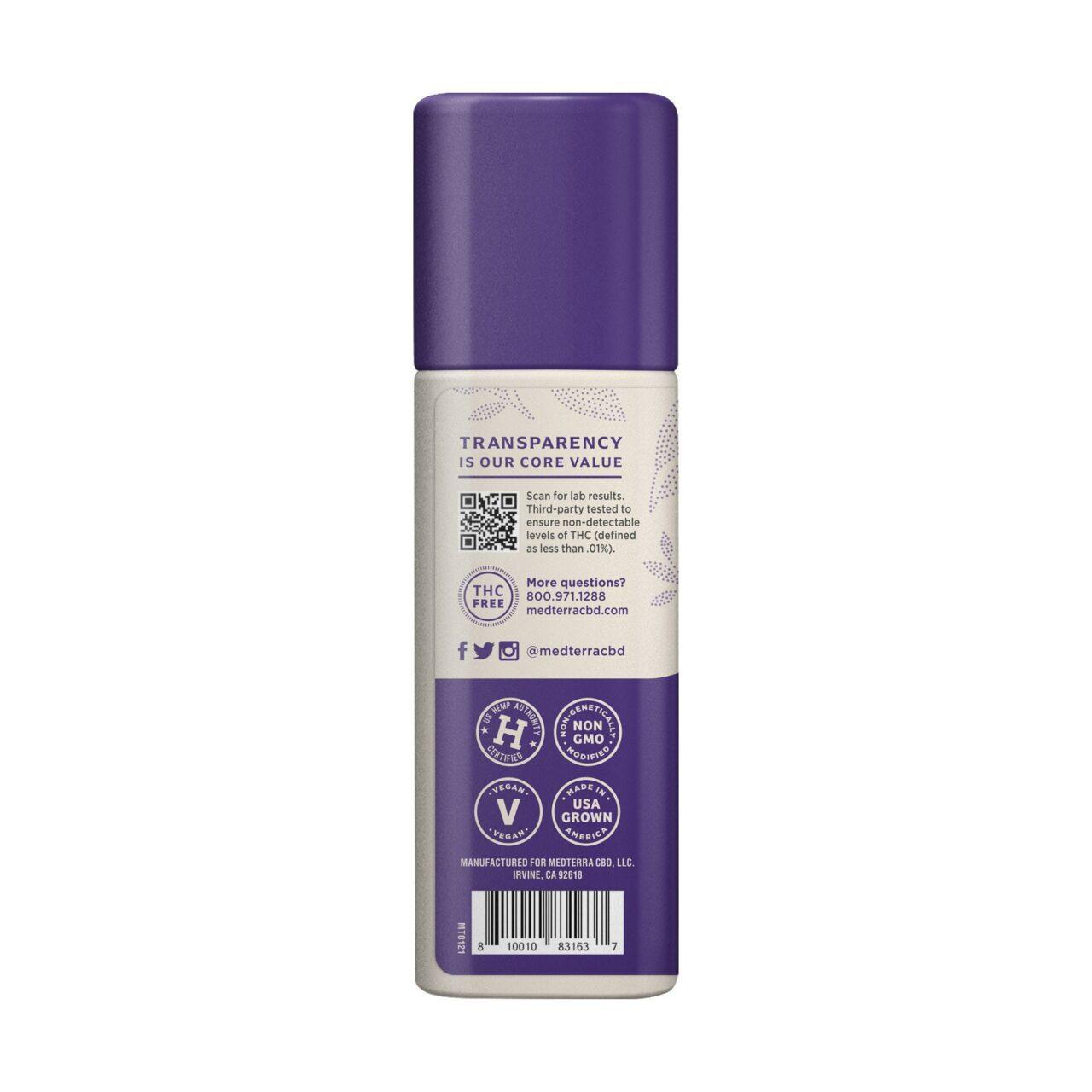 Medterra, Wellness Nature's Relief Daily CBD Cream, Broad Spectrum THC-Free, 1.7oz, 500mg CBD 3