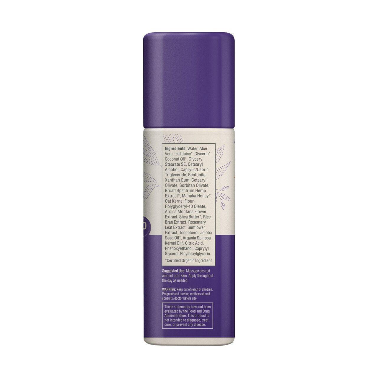 Medterra, Wellness Soothing CBD Cream, Manuka Honey, Broad Spectrum THC-Free, 1.7oz, 250mg CBD 4