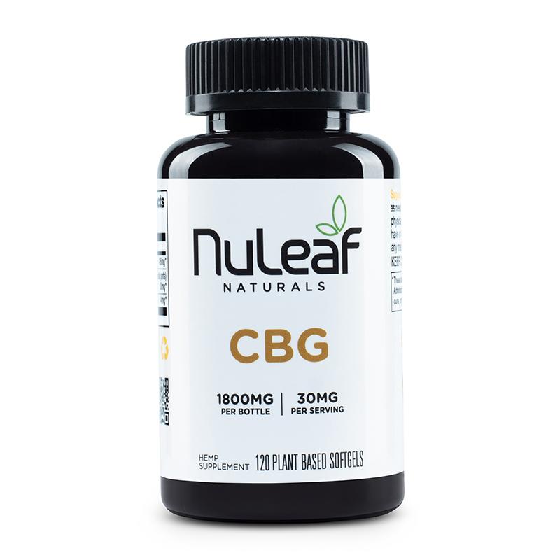 NuLeaf Naturals, CBG Capsules, Full Spectrum, 120 Softgels, 1800mg CBG 1