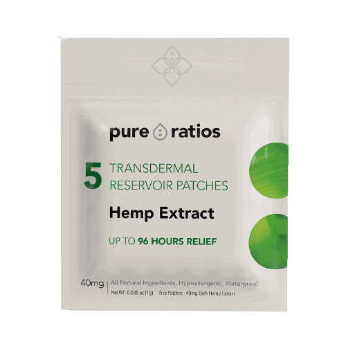 Pure Ratios, 96 Hour Transdermal Hemp Extract Patch, 5-count