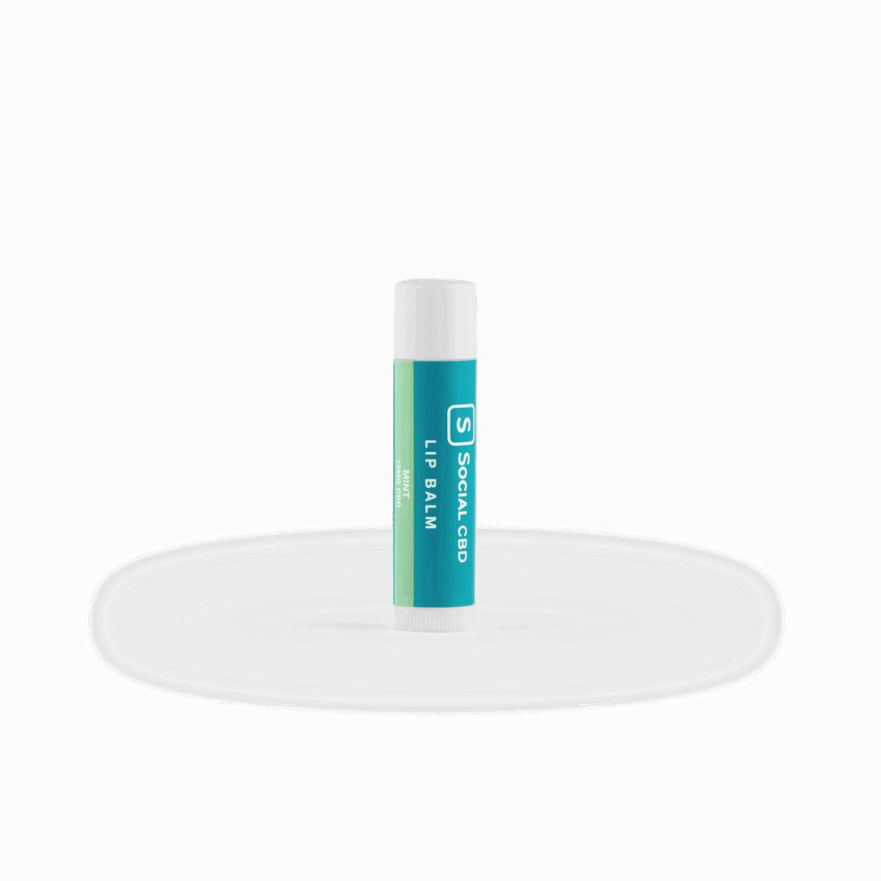 Social CBD, Lip Balm, Isolate THC-Free, Mint, 0.15oz, 15mg CBD 1