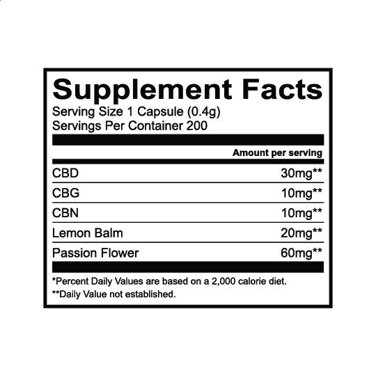 Lazarus Naturals, Sleep Cannabinoid Capsules, Full Spectrum, 200ct, 2000mg CBG + 2000mg CBN + 6000mg CBD 3