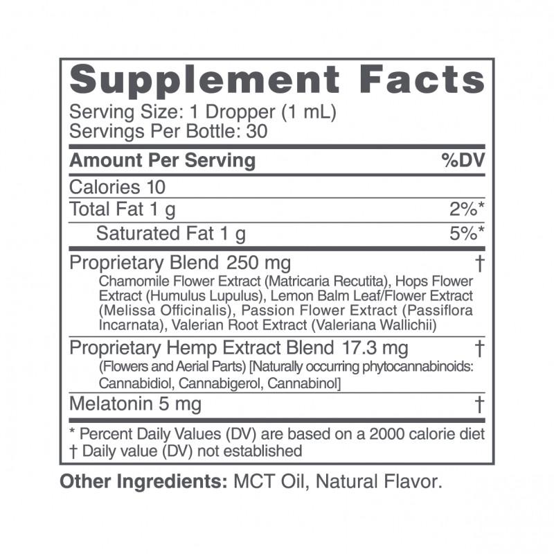 cbdMD, CBD PM Tincture for Sleep, Broad Spectrum THC-Free, Berry, 1oz, 500mg CBD 2