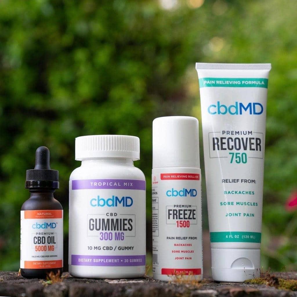 cbdMD CBD Oil Products