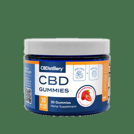 CBDistillery, 30mg Full Spectrum Gummies, Strawberry, 30ct, 900mg CBD 1