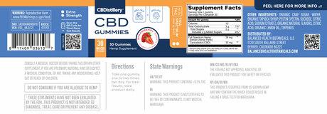 CBDistillery, 30mg Full Spectrum Gummies, Strawberry, 30ct, 900mg CBD 3