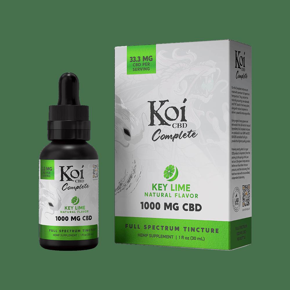 Koi CBD, Complete Full Spectrum CBD Tincture, Key Lime Flavor, 30ml, 1000mg CBD 1