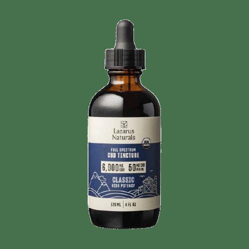 Lazarus Naturals, High Potency Full Spectrum CBD Tincture Oil, Natural Flavor, 4oz, 6000mg CBD
