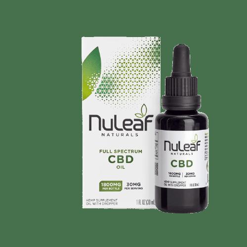 NuLeaf Naturals, Hemp CBD Oil, Full Spectrum, 30mL, 1800mg CBD