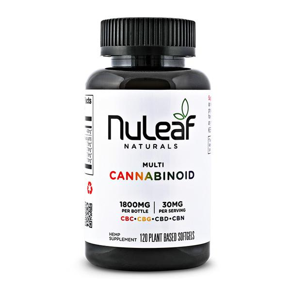NuLeaf Naturals, Multicannabinoid Capsules CBD+CBC+CBG+CBN, Full Spectrum, 120ct, 1800mg Multi 1