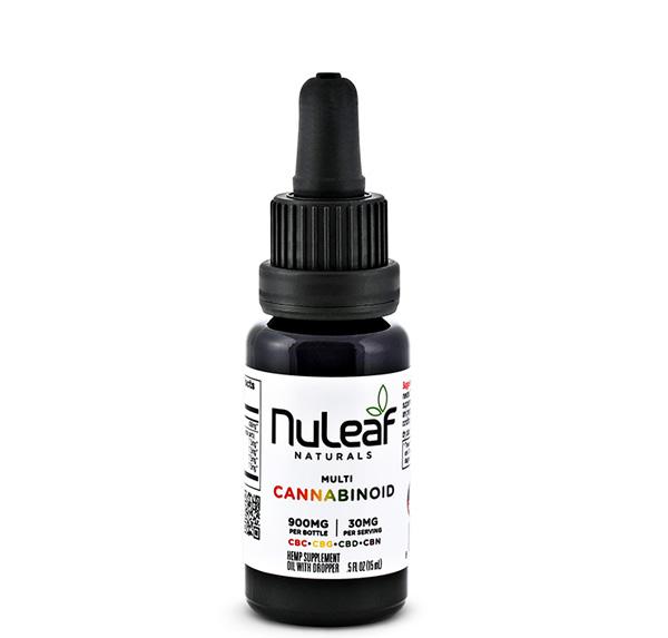 NuLeaf Naturals, Multicannabinoid Oil CBD+CBC+CBG+CBN, Full Spectrum, 15mL, 900mg Multi 1