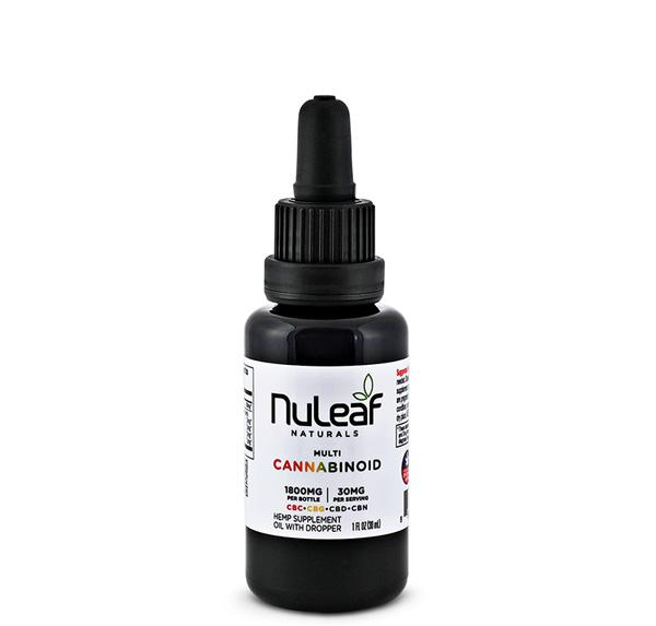 NuLeaf Naturals, Multicannabinoid Oil CBD+CBC+CBG+CBN, Full Spectrum, 30mL, 1800mg Multi