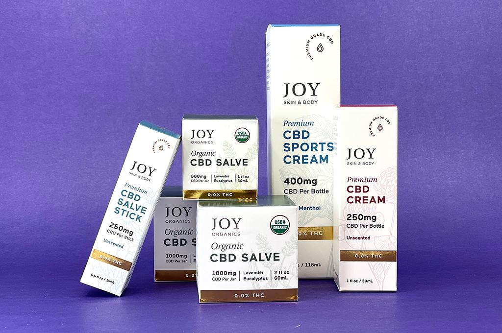 Joy Organics CBD Salves, CBD Creams, CBD Salve Sticks