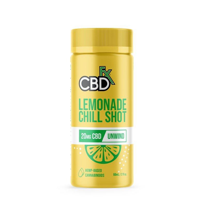 CBDfx, CBD Chill Shots 20mg Unwind, Lemonade, Broad Spectrum THC-Free, 6ct, 120mg CBD 1