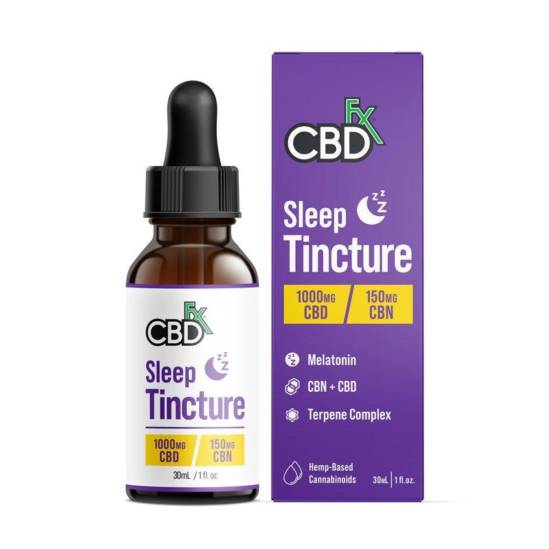 CBDfx, CBD Oil Sleep Tincture with Melatonin, Broad Spectrum THC-Free, 1oz, 150mg CBN + 1000mg CBD 1