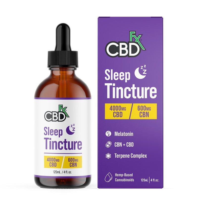 CBDfx, CBD Oil Sleep Tincture with Melatonin, Broad Spectrum THC-Free, 4oz, 600mg CBN + 4000mg CBD 1