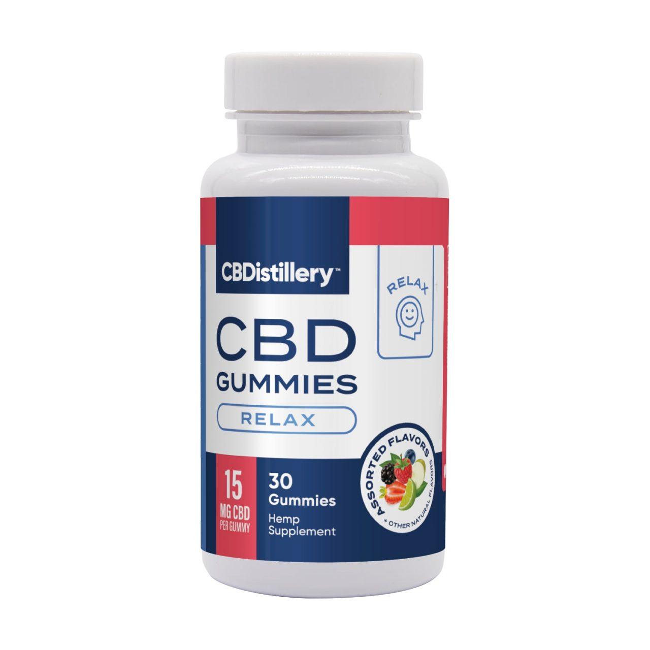 CBDistillery, 15mg Isolate CBD Gummies, Assorted Flavors, 30ct, 450mg CBD
