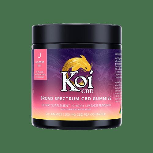 Koi CBD, CBD Gummies, Nighttime Rest, Broad Spectrum, Cherry, 20-Count, 200mg of CBD