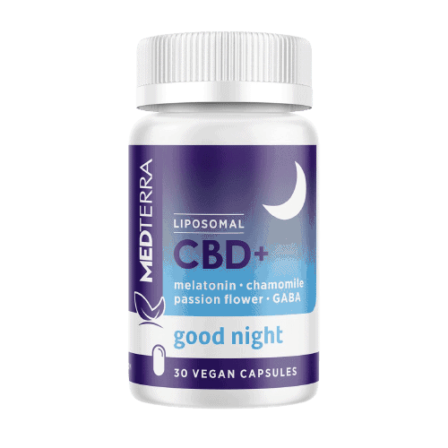 Medterra, Liposomal CBD+ Capsules, Good Night, Isolate THC-Free, 30ct, 750mg CBD