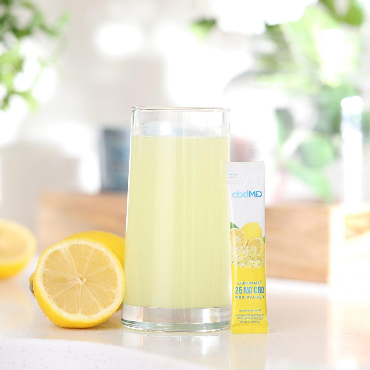 cbdMD, CBD Powdered Drink Mix, Broad Spectrum THC-Free, Lemonade, 10ct, 250mg CBD 3