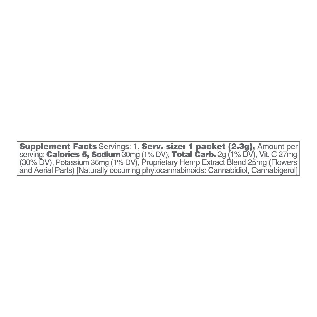 cbdMD, CBD Powdered Drink Mix, Broad Spectrum THC-Free, Peach, 10ct, 250mg CBD 2