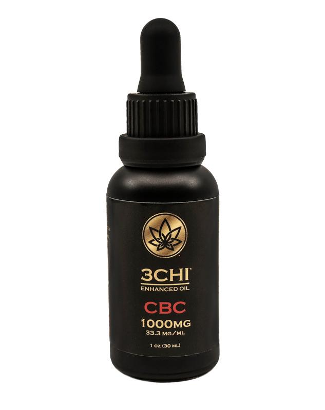 3Chi, CBC Oil Tincture, Broad Spectrum THC-Free, 1oz, 1000mg CBC 1