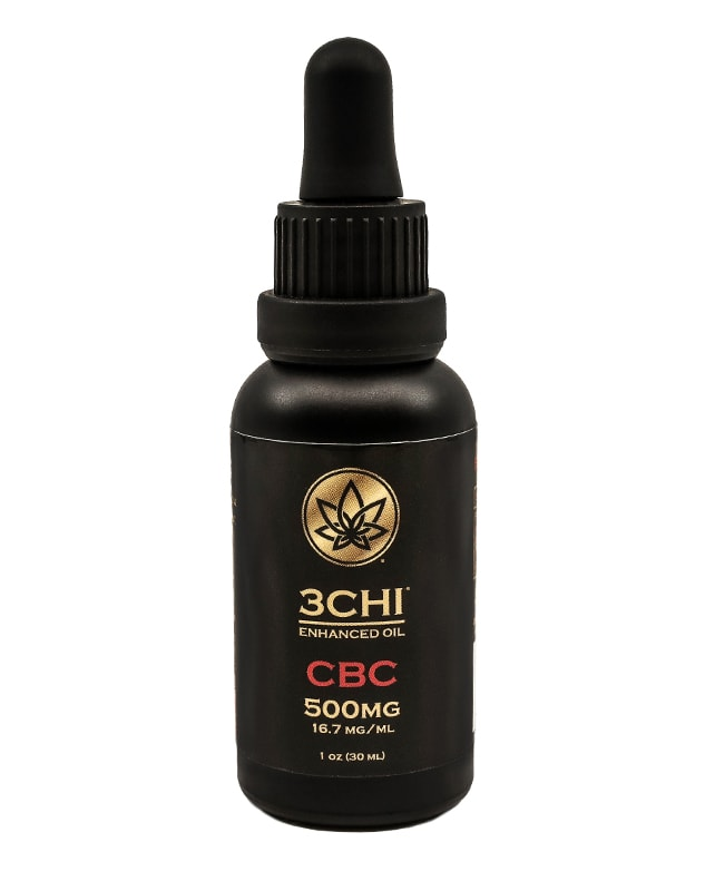 3Chi, CBC Oil Tincture, Broad Spectrum THC-Free, 1oz, 500mg CBC 1