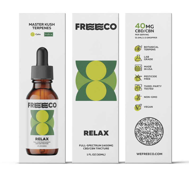 Freeco, Relax CBN Oil, Full Spectrum,1oz, 150mg CBN + 2250mg CBD 2