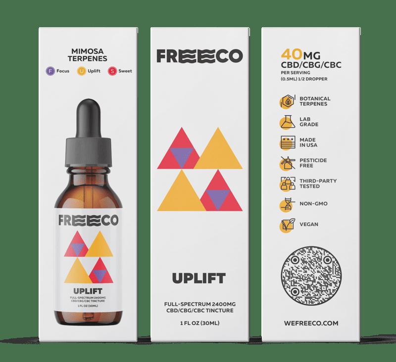 Freeco, Uplift CBC Oil, Full Spectrum,1oz, 300mg CBC + 1050mg CBG + 1050mg CBD 2