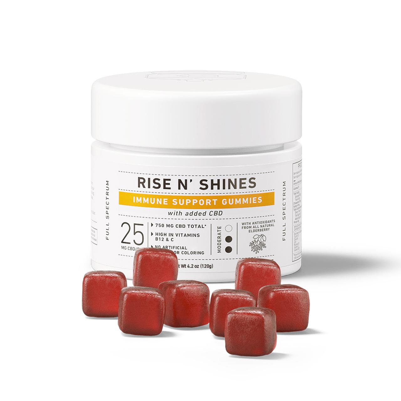 Green Roads, Rise N' Shines Immune Support CBD Gummies, Full Spectrum, 30ct, 750mg CBD 2