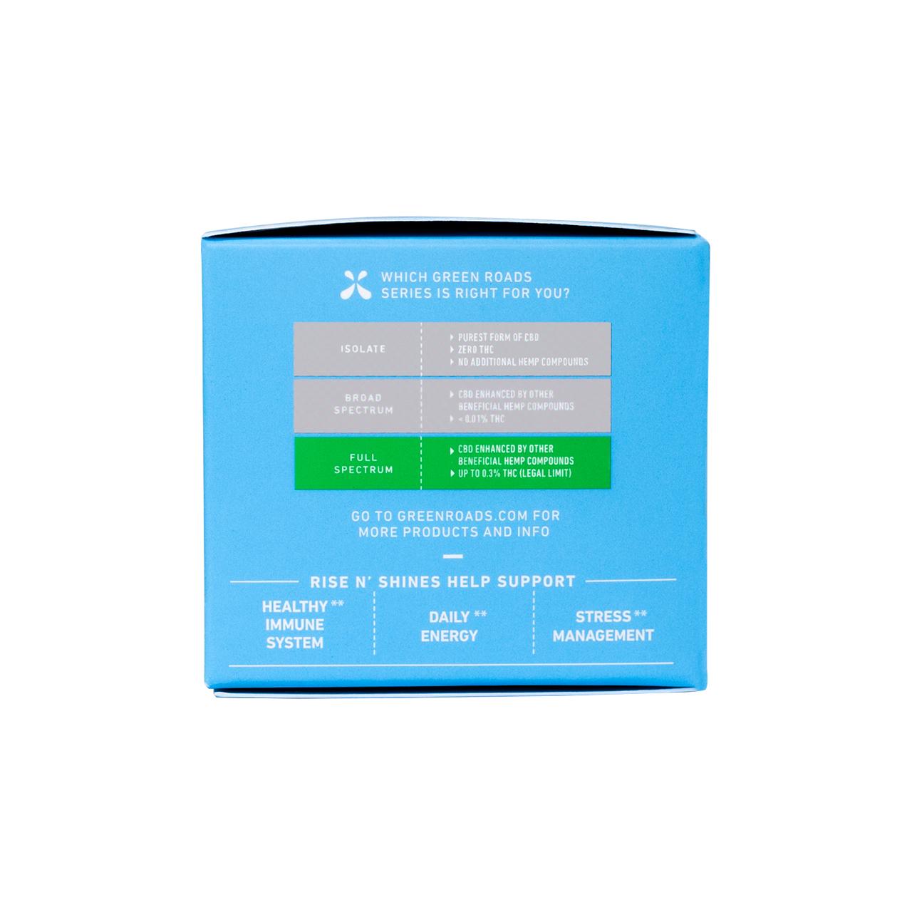 Green Roads, Rise N' Shines Immune Support CBD Gummies, Full Spectrum, 30ct, 750mg CBD 5