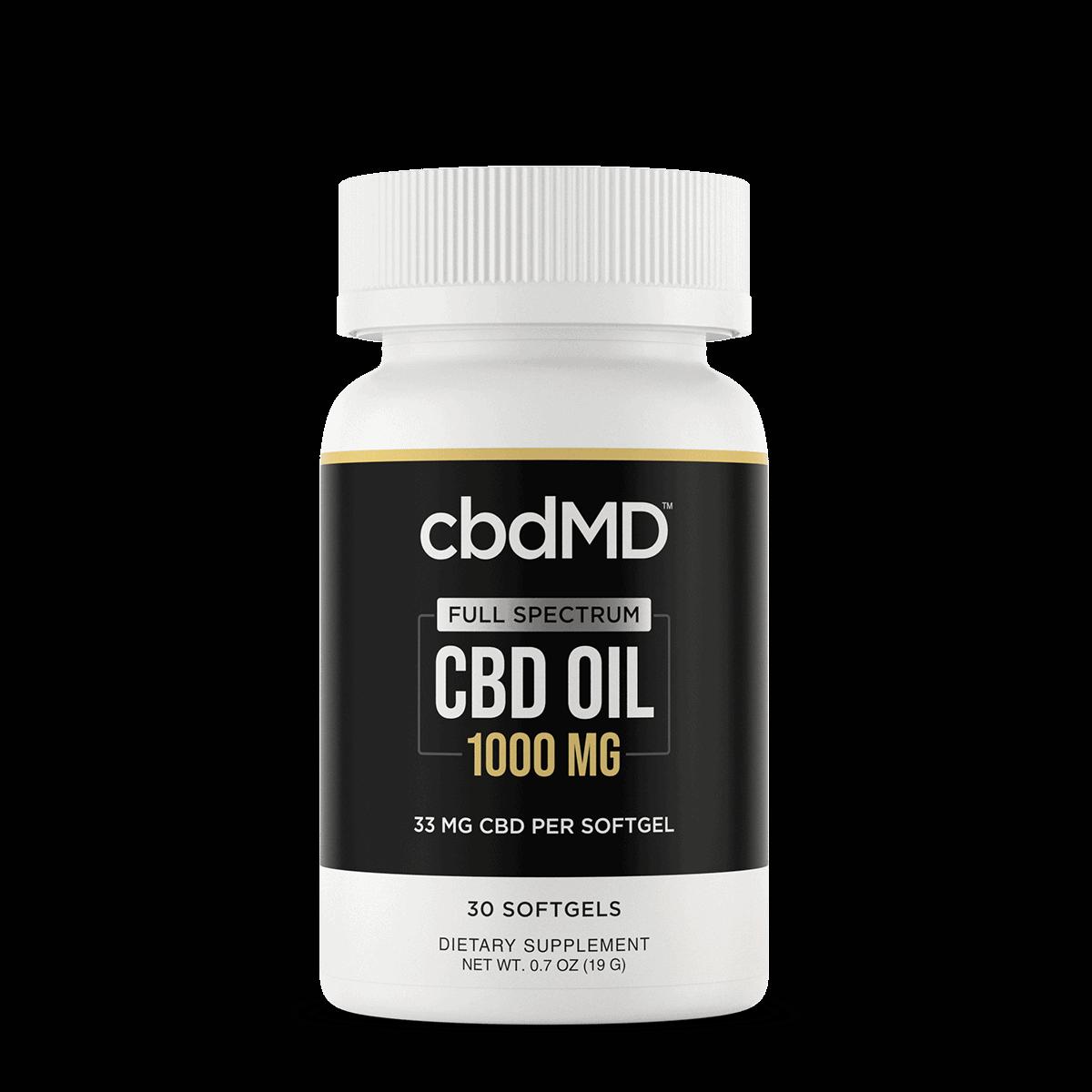 cbdMD, CBD Oil Softgels, Full Spectrum, 30-Count, 1000mg CBD 1